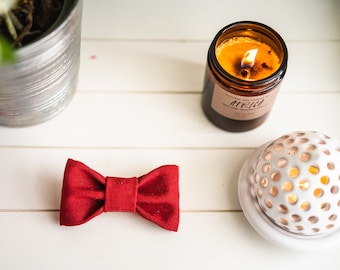 Red Bow tie for dogs and cats, bow tie for collar