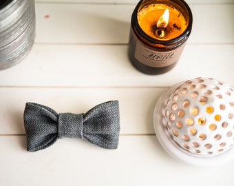 Grey Bow tie for dogs and cats, bow tie for collar