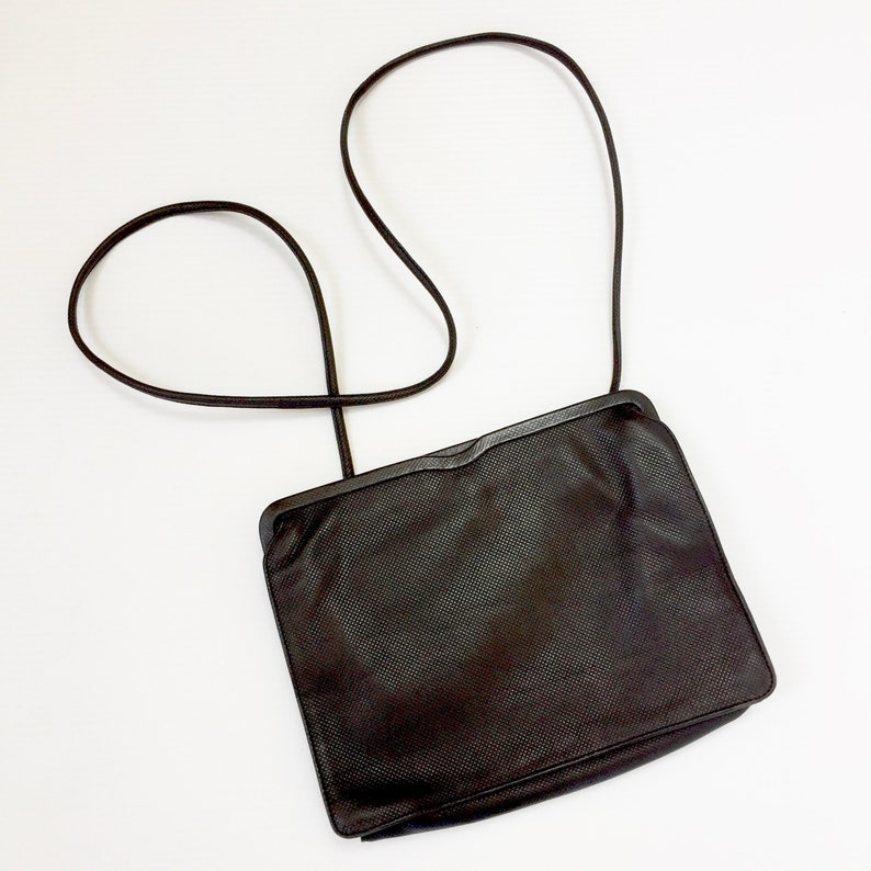 056ceefc18 Vintage Bottega Veneta Purse Shoulder Handbag Black Leather
