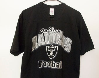 e8de67f8f Vintage 90s Oakland Raiders Jersey Shirt Unisex Small 1990s NFL Football  Superbowl Raiders Nation Stretchy Top Sportswear