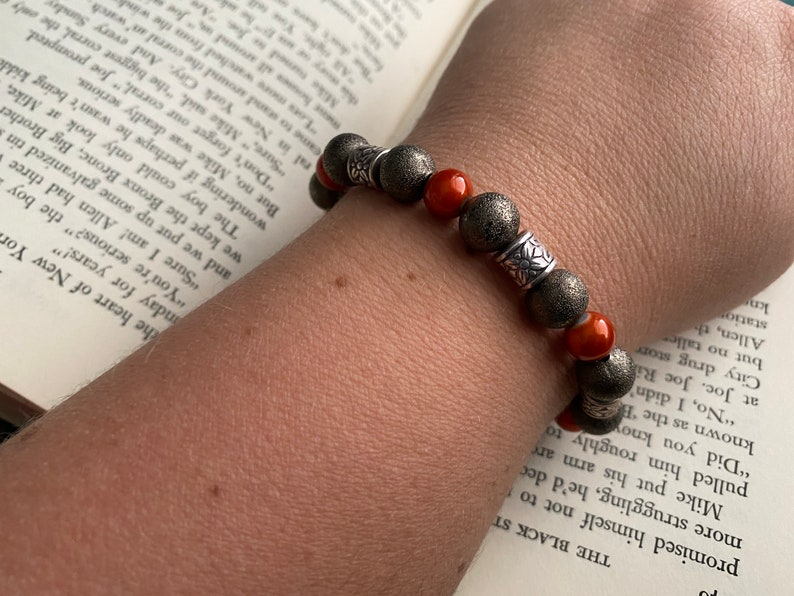 only one available and Silver Beaded Bracelet Orange JEWELRY SALE Bronze