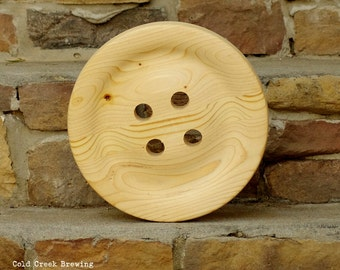 large wood button 6 big wooden button 6 inch huge etsy