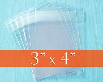 """500 Clear Resealable Self Adhesive Seal Cello Lip Tape Plastic bags 4.3/"""" x 6/"""""""