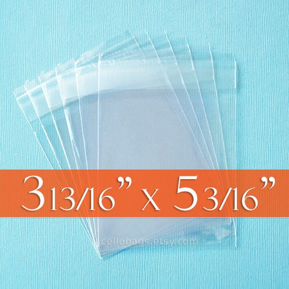 """1000 Clear Reusable Cellophang Bags Top Seal Cello Pouches Retail Packing 7/""""x5/"""""""