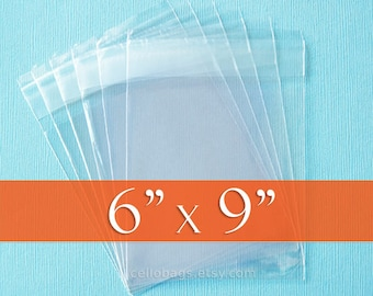 200 6 x 9 Inch  Clear Resealable Cello Bags, Plastic Packaging, Acid Free