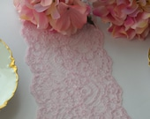 10 yard roll Pink Lace 6 quot wide Last piece DIY wedding Baby shower Bridal Shower Pink Clothing lace Soft for blanket edge