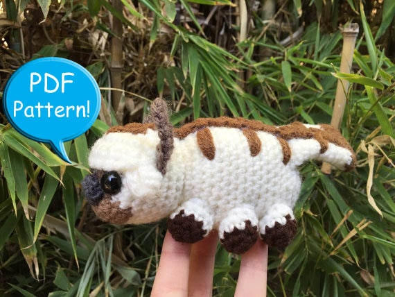 Pdf Pattern For Crochet Appa Amigurumi Doll Toy Plushie Avatar Etsy