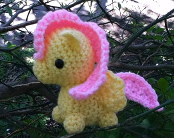 Fluttershy My Little Pony Crocheted