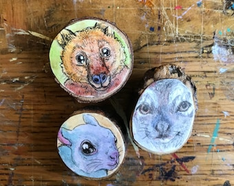 Woodland creature magnet pack
