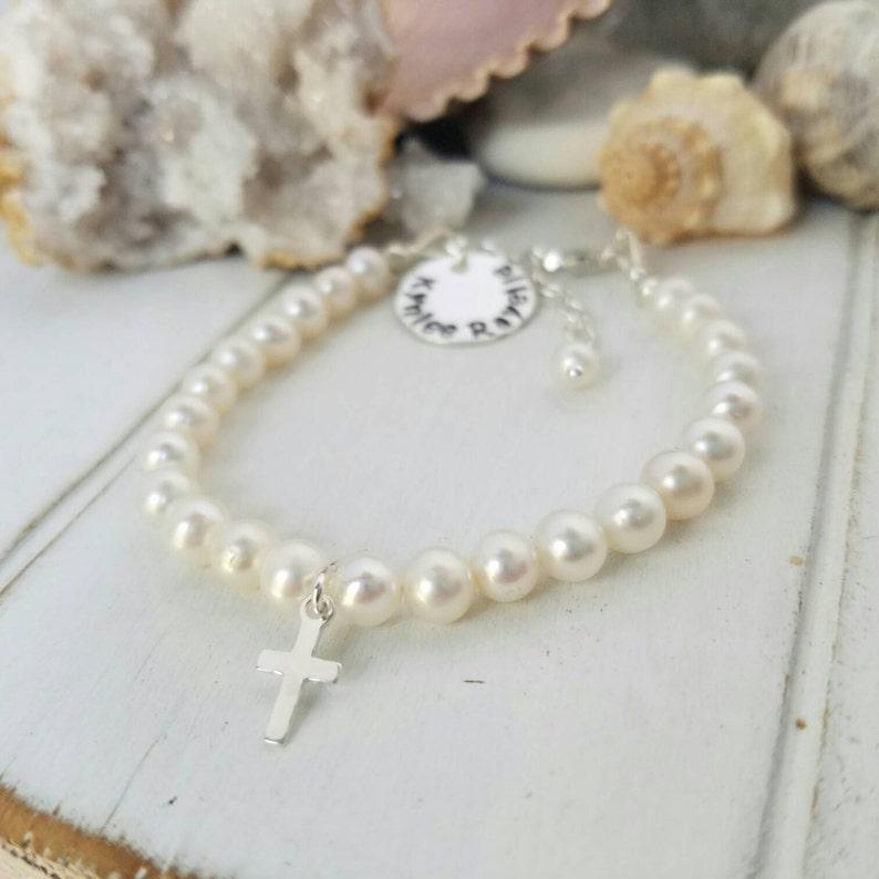 612a0e20a Pearl Baby Bracelet AAA Freshwater Pearls Baby bracelet   Etsy