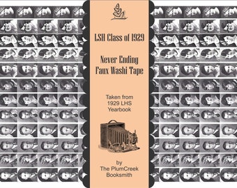 LHS Class of 1929 Yearbook Photos - Never Ending Washi Tape for Your Junk Journals - instant digital download