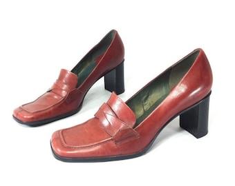 4ec6ab09b4e Vintage red shoes | Etsy