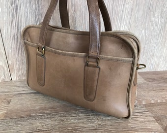 04c98d6aac 70 s Coach Classic Distressed Tan Leather Satchel