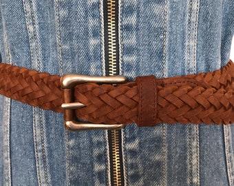 e0a0ab12de7d Levi's Chocolate Brown Woven Belt, Levi Strauss SF Cal Authentic Soft Thick  Rugged Luxurious Leather, Bohemian Unisex All Size 42 inch