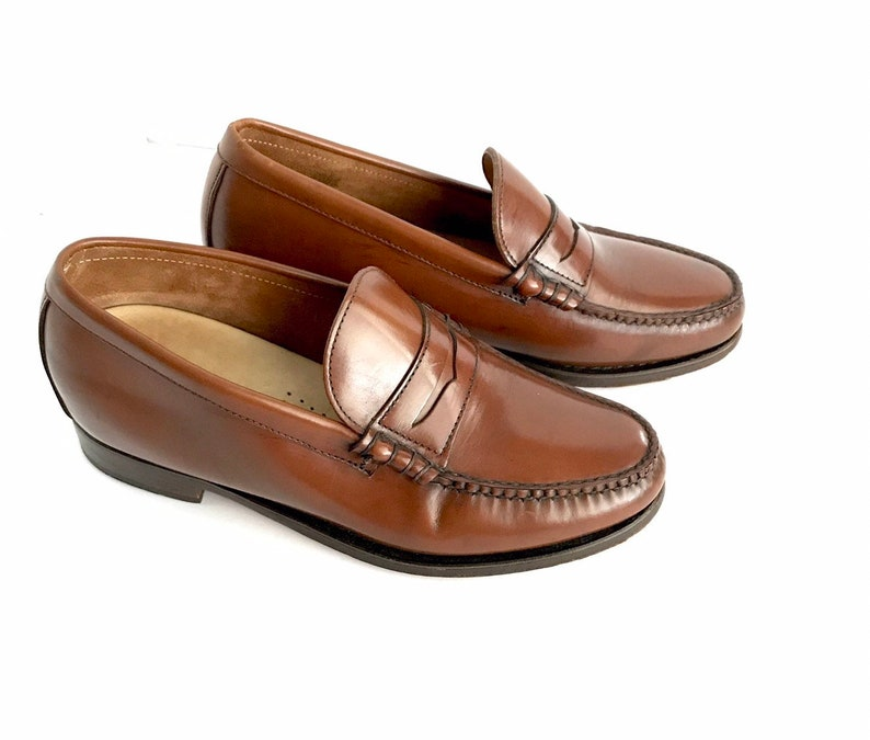 dc4e4c48f86 Vintage Designer Men s Leather Penny Loafers by