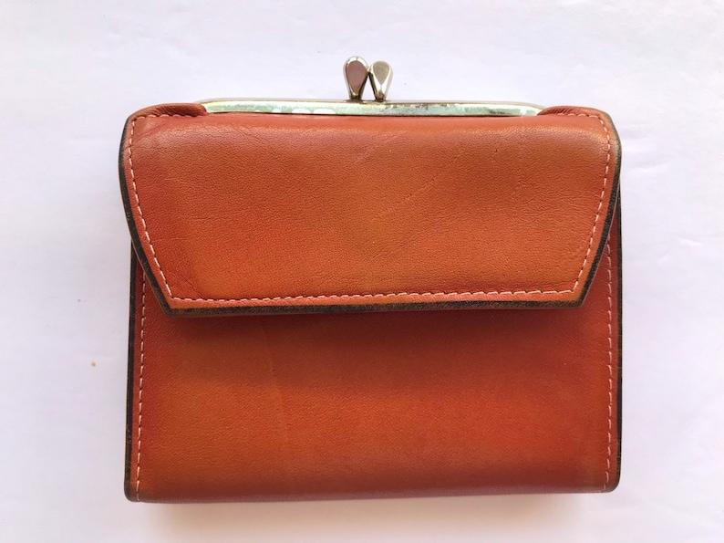 New Women's Plain Faux Leather Kiss Lock Classic Purse Wallet