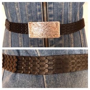 Vintage Boho Macrame Waist Belt Woven Tangerine Orange Beige Fuchsia Hippie 80s Nylon Belt One Size Fits All to 38 inches
