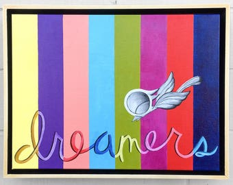Dreamers - Dream Bird Painting - 12x16 - Acrylic On Canvas