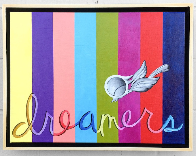 Featured listing image: Dreamers - Dream Bird Painting - 12x16 - Acrylic On Canvas