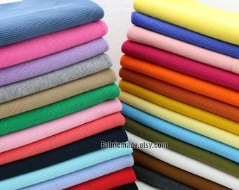 "67 Colors Choose Ribbing- 7.8"" Length 20 x 100cm Ribbing and Binding Knit Fabric For Neckline, Cuffs, Hems"