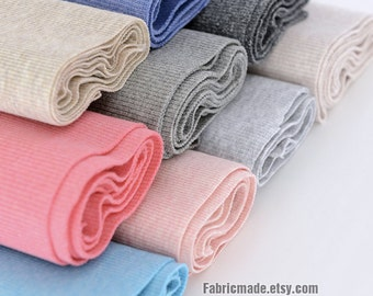 47 colors Choose- 20cm Width Ribbing and Binding Knit Fabric For Neckline, Cuffs, Hems