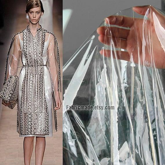137cm*50cm 0.2mm Translucent tpu fabric designer fashion fabric raincoat fabric