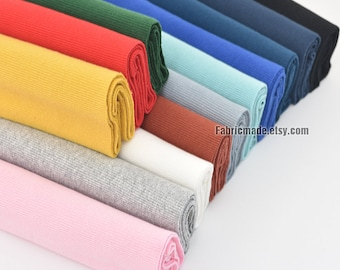 "17 Colors Choose Ribbing- 7.8""/20cm Length Ribbing and Binding Knit Fabric For Neckline, Cuffs, Hems"