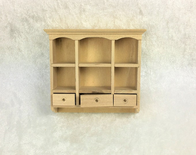 Wall cabinet with 3 drawers, hanging shelf with 3 drawers, the dollhouse, dollhouse miniatures, cribs, miniatures, model making