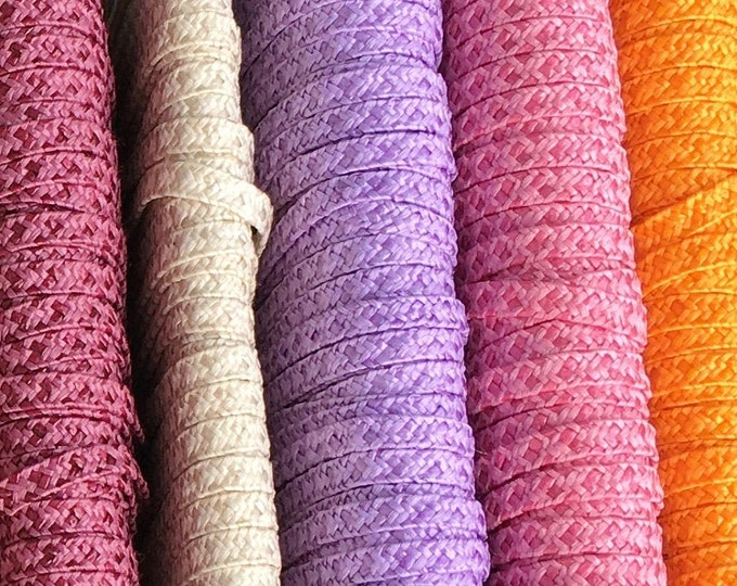 Hat straw for the design of hats, suitcases and baskets for the dollhouse, purple,mulberry, orange, beige, pink, model making, dollhouse