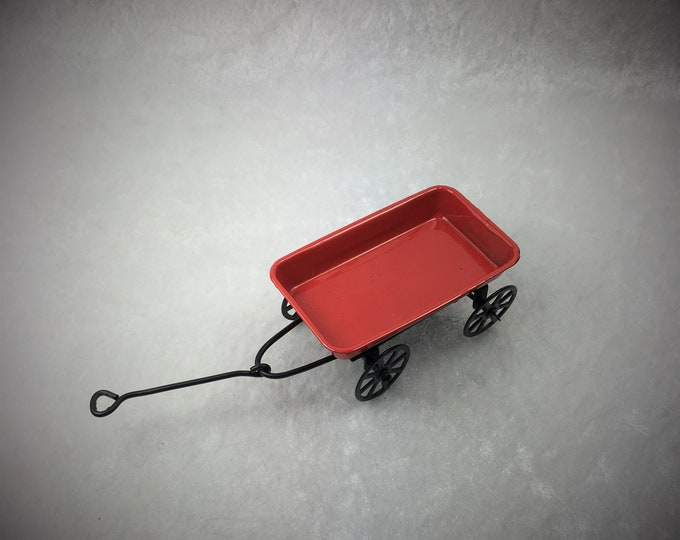 Handcart, handcart for the dollhouse, the dollhouse, dollhouse miniatures, cribs, miniatures, model making