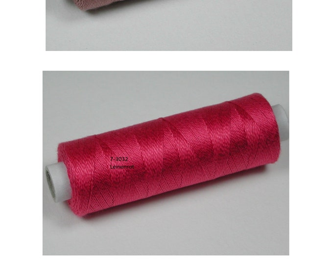Colours 3030 rosewood, 3032 linen red, 3033 chassis, cotton, knitted and crochet yarn for miniature handwork,