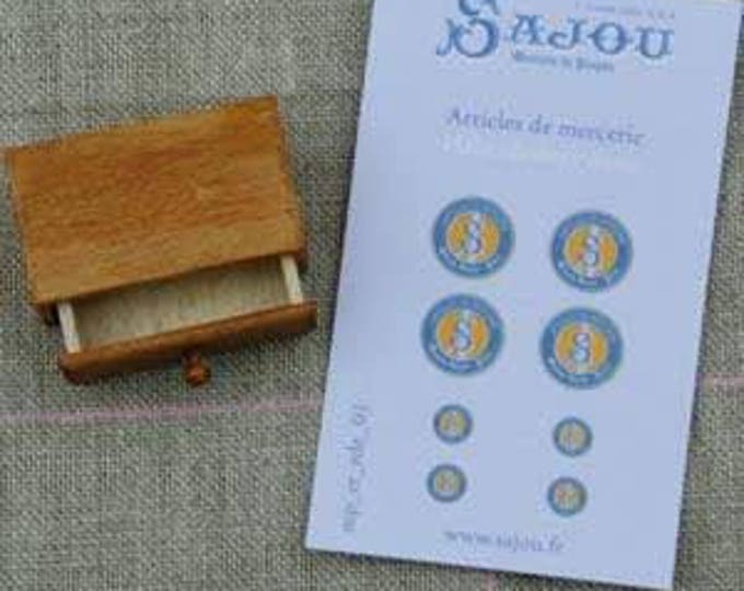 "Sajou miniature goods, 1 drawer ""articles de Mercie, for the doll parlor, Dollhouse Miniatures, # 39402"
