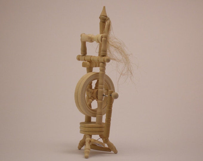 Spinning Wheel, for the Doll'S House, the Doll's House, Dollhouse Miniatures, Nativity scenes, Miniatures, Model making