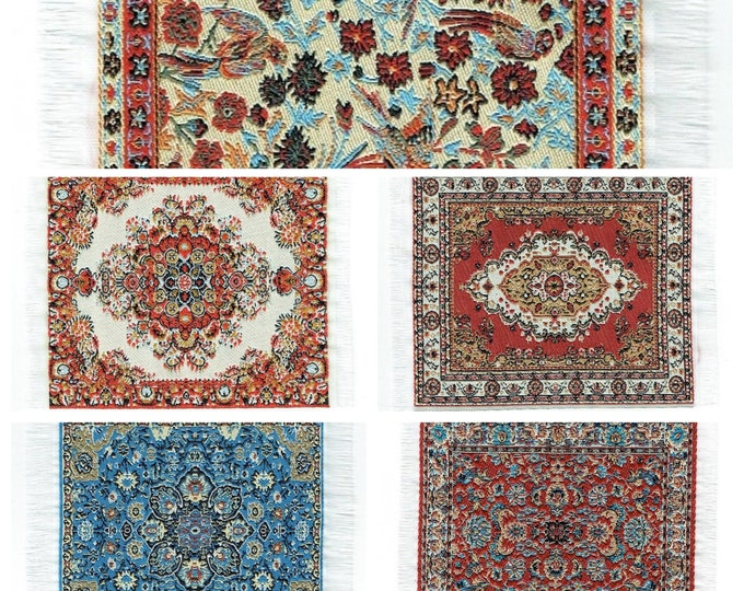 Carpet, miniature carpet 10 x 15/16 cm, for the dollhouse, the dollhouse, dollhouse miniatures, cribs, miniatures, model making