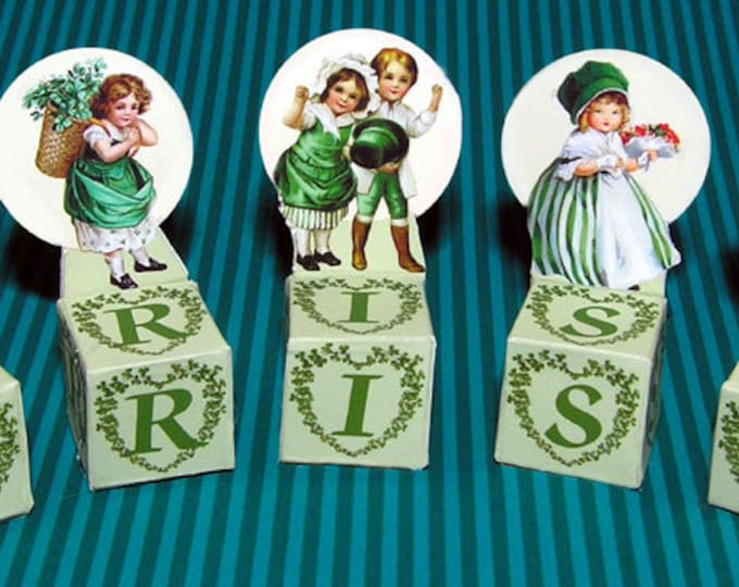 Sankt Patrick Day, Bastelkit of paper in miniature for the Dollhouse, the doll house, Dollhouse Miniatures # 40071