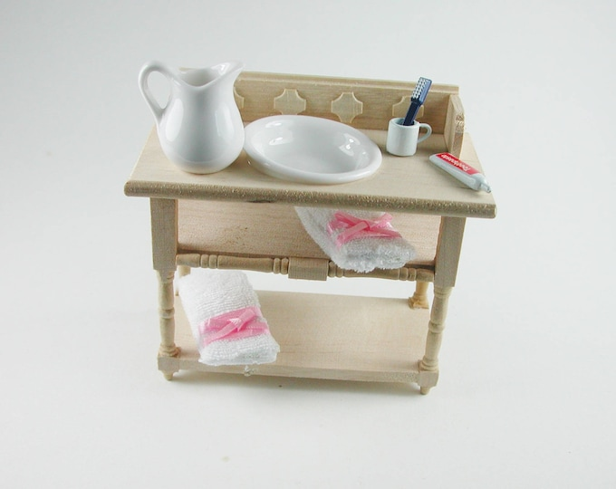 Washbasin, for the doll's house, the Dollhouse, Dollhouse miniatures, cribs, miniatures, Model Building # v 22085