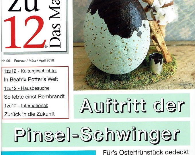 96-1zu12 The magazine, the magazine for miniatures and doll's houses, No. 96 February/March/April 2018, appearance of the brush swingers