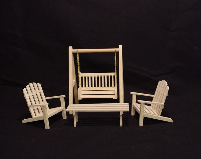 garden furniture for the dollhouse, dollhouse, Dollhouse Miniatures, miniatures, model making