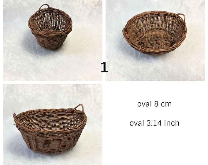 Wash basket oval, decoration for home and garden, for the dollhouse, the doll house, dollhouse miniatures, cribs, miniatures, model making