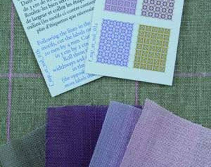 Sajou Miniature Linen Assortment Lilac/pink for the doll parlor, Dollhouse Miniatures, # 39103