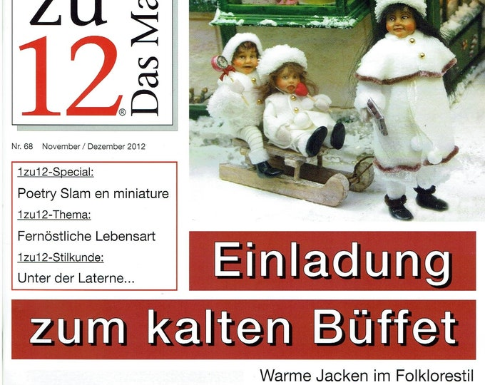 68-1zu12 The magazine, the magazine for miniatures and doll's houses, No. 68 November/December 2012, invitation to the cold buffet