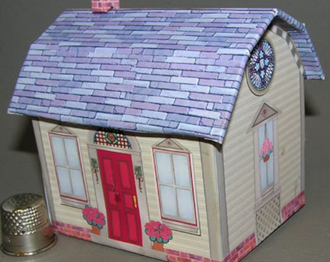 Americana Cottage, Paperminis, Paper Craft Kit in miniature for the doll's house, the doll's house, Dollhouse Miniatures