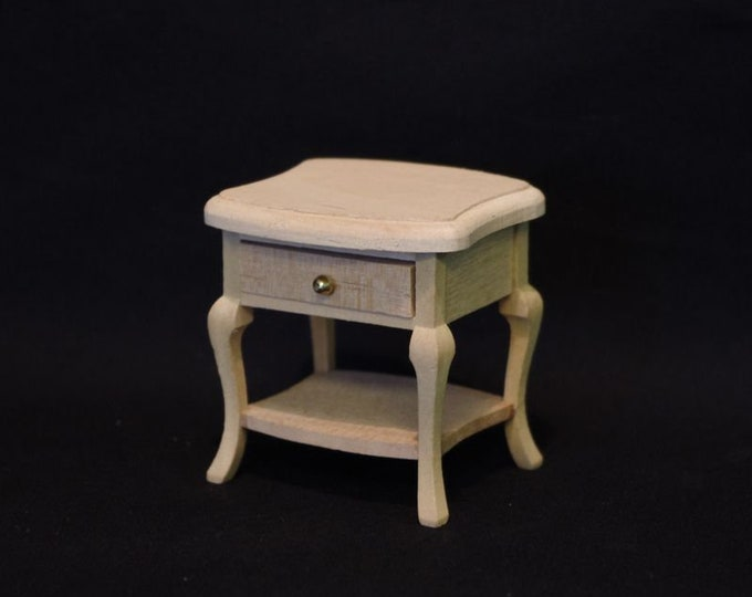 Night stand, for the dollhouse, dollhouse, Dollhouse Miniatures, miniatures, model making