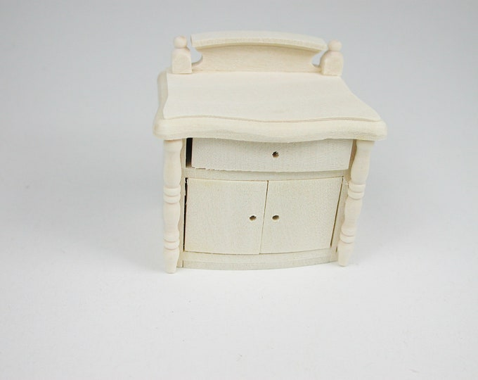 Bedside table, for the doll's house, the Dollhouse, Dollhouse miniatures, cribs, miniatures, modelling # 22020