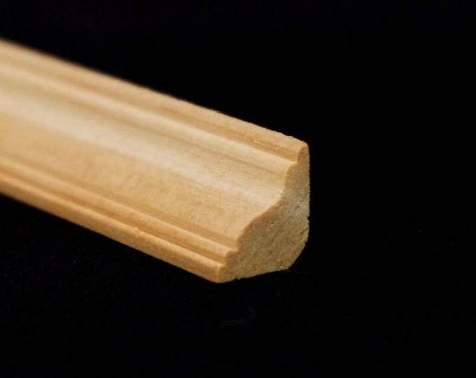 Bar, 30 x 1 x 1 cm, wooden strip, wood nature untreated, for the doll house, for model making, for the Krippenbau # 23566