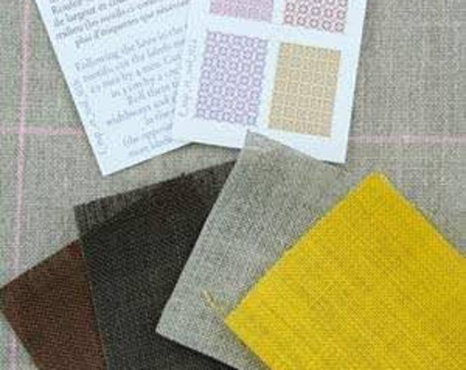 Sajou Miniature Linen assortment Brown/Yellow for the doll parlor, Dollhouse Miniatures, # 39102