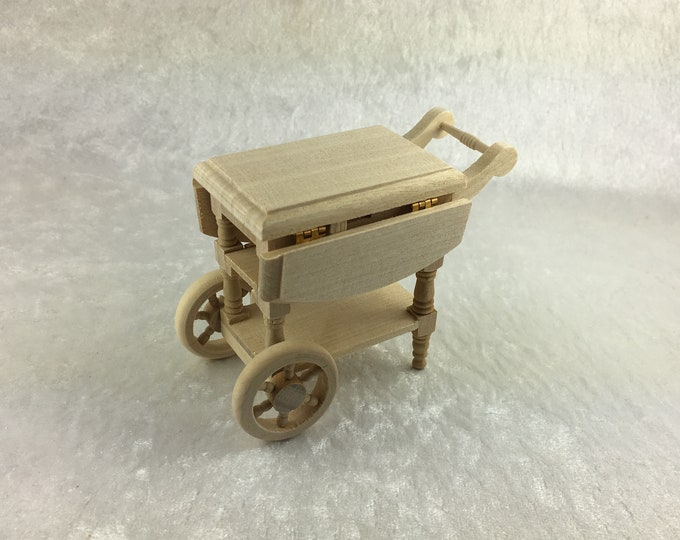 Teewagen, for the dollhouse, the dollhouse, Dollhouse Miniatures, cribs, miniatures, model making