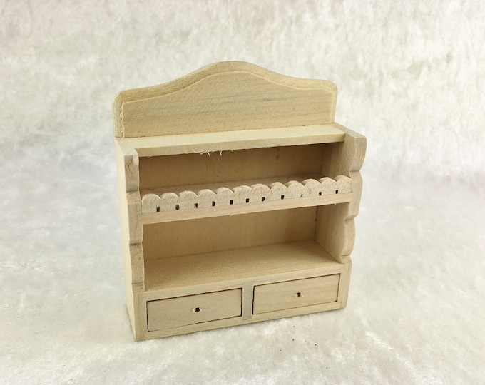Hanging shelf with two drawers, for the dollhouse, the dollhouse, Dollhouse Miniatures, cribs, miniatures, model making