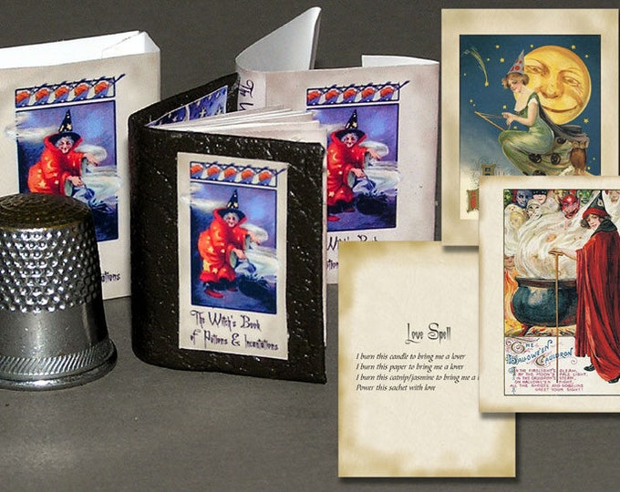 The witch's, Paperminis, Bastelkit of paper in miniature for the Dollhouse, the doll house, Dollhouse Miniatures # 40051