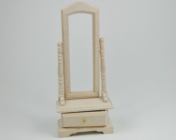 Stand mirror, for the doll's room, the doll's House, Dollhouse miniatures, cribs, miniatures, model building # 840-196